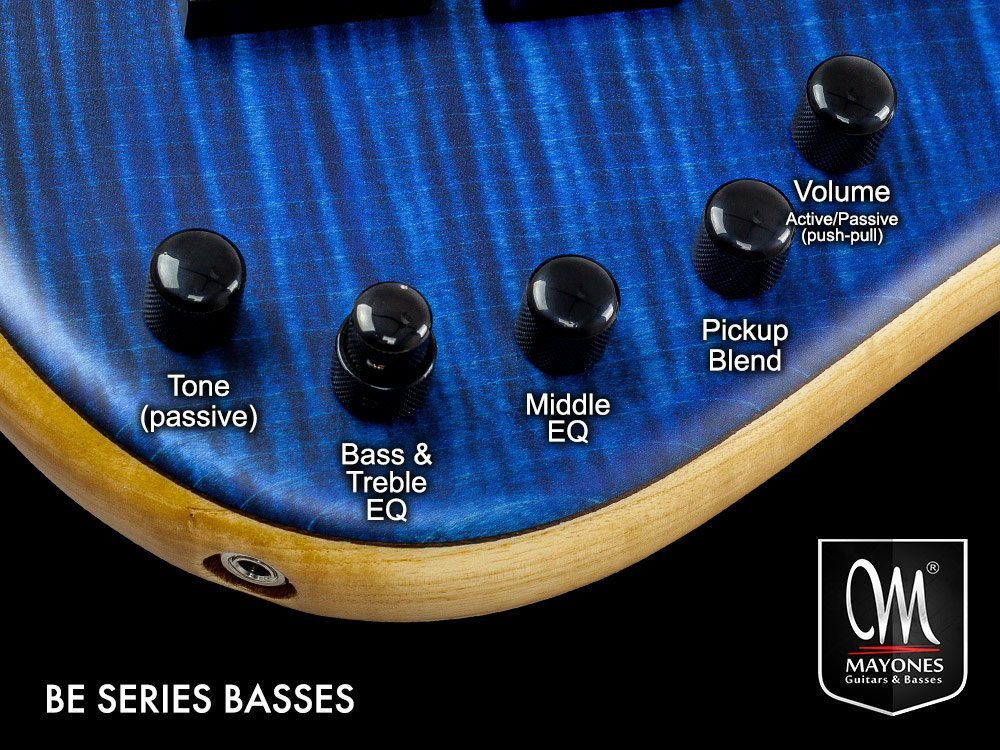 BE Series Basses Control Layout