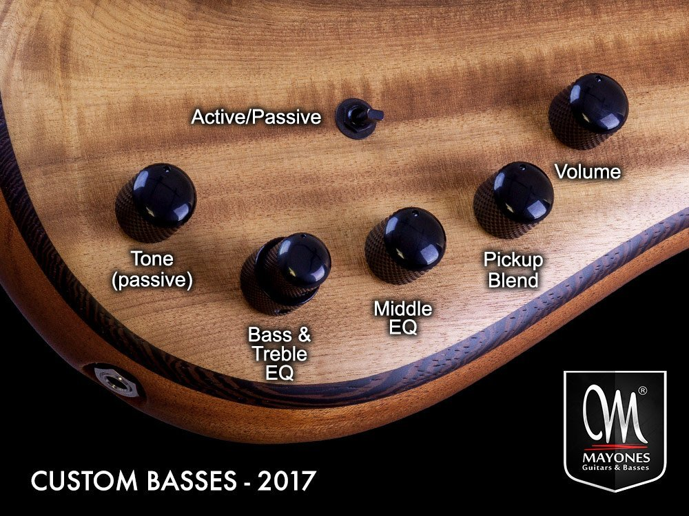 Master Series Basses Control Layout